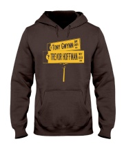 19 and 51 Street Sign Hooded Sweatshirt front