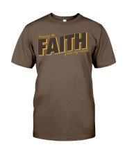 Keeping the Faith - Brown Font Classic T-Shirt thumbnail