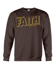 Keeping the Faith - Brown Font Crewneck Sweatshirt tile