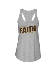 Keeping the Faith - Brown Font Ladies Flowy Tank tile