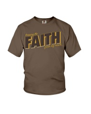 Keeping the Faith - Brown Font Youth T-Shirt tile