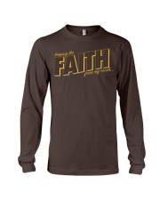 Keeping the Faith - Brown Font Long Sleeve Tee tile
