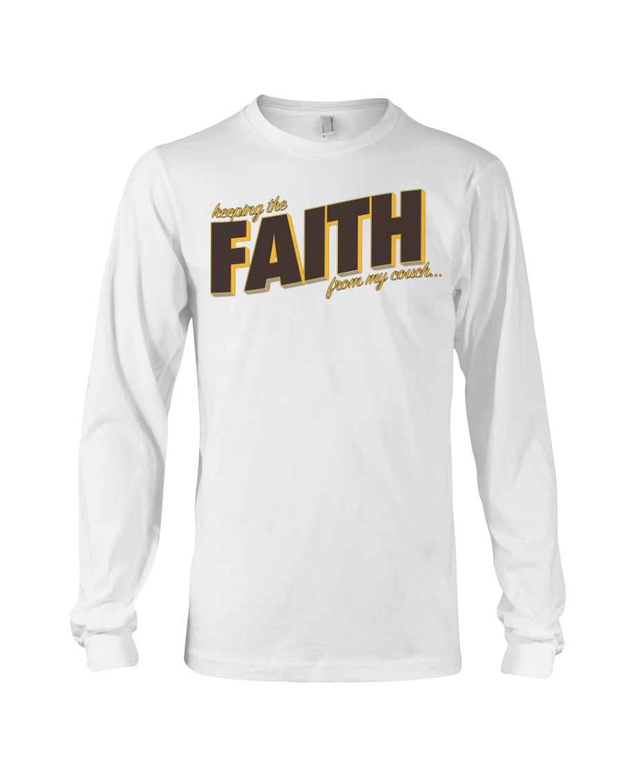 Keeping the Faith - Brown Font Long Sleeve Tee