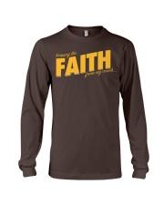 Keeping the Faith - Gold Font Long Sleeve Tee thumbnail