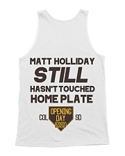 Still Hasn't Touched Home - YMD - Brown Font All-over Unisex Tank back