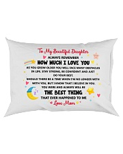Personalized Pillow Gift to Daughter Rectangular Pillowcase back
