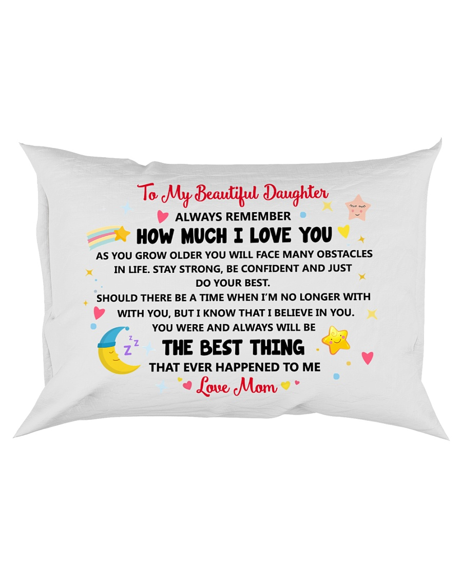 Personalized Pillow Gift to Daughter Rectangular Pillowcase