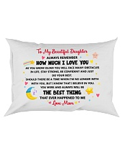 Personalized Pillow Gift to Daughter Rectangular Pillowcase front