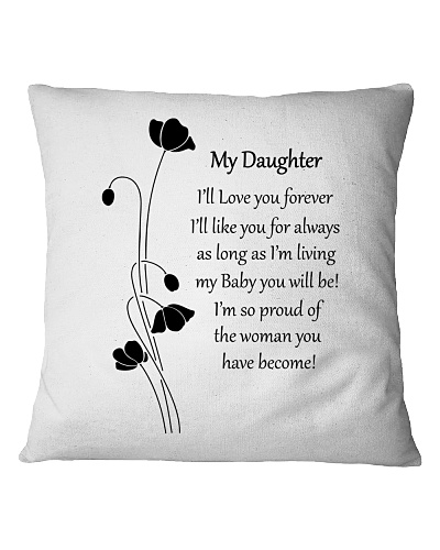 Personalized Pillow Gift to Daughter