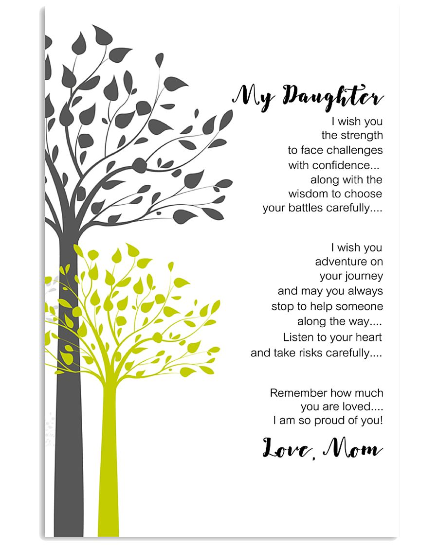 Personalized Gift to Daughter From Mom and Dad 11x17 Poster