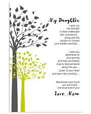 Personalized Gift to Daughter From Mom and Dad 11x17 Poster front