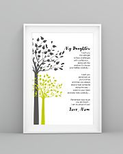 Personalized Gift to Daughter From Mom and Dad 11x17 Poster lifestyle-poster-5
