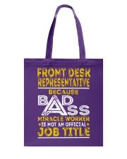 Front Desk Representative Tote Bag thumbnail