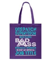 Dispatch Supervisor Tote Bag thumbnail