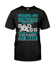 Wedding And Portrait Photographer Classic T-Shirt front