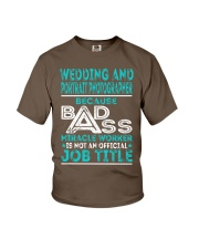 Wedding And Portrait Photographer Youth T-Shirt thumbnail