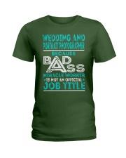 Wedding And Portrait Photographer Ladies T-Shirt thumbnail