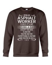 Asphalt Worker Crewneck Sweatshirt thumbnail