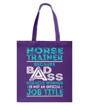 Horse Trainer Tote Bag thumbnail
