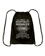Hospitality Manager Drawstring Bag thumbnail