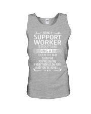 Support Worker Unisex Tank thumbnail