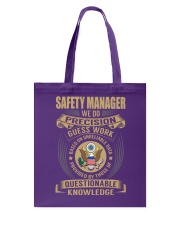 Safety Manager Tote Bag thumbnail