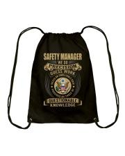 Safety Manager Drawstring Bag thumbnail