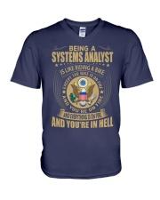 Systems Analyst V-Neck T-Shirt thumbnail