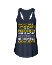 Social Worker Ladies Flowy Tank thumbnail