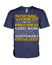 Social Worker V-Neck T-Shirt thumbnail