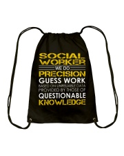 Social Worker Drawstring Bag thumbnail