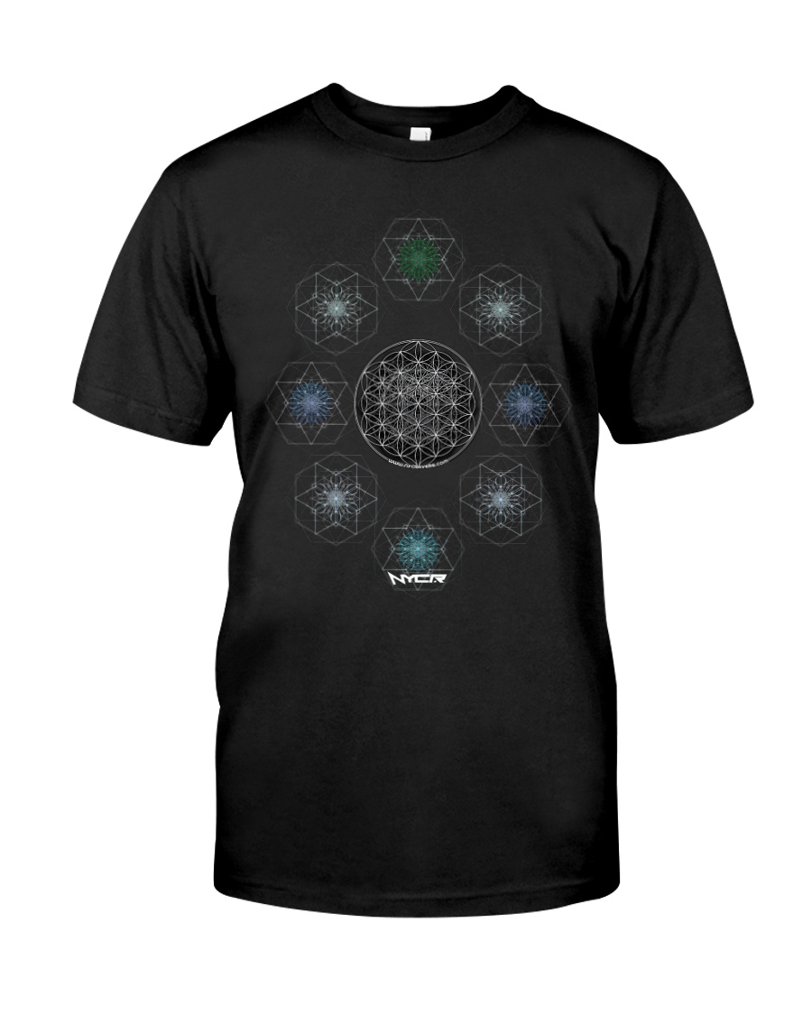 NYCRavers Geometric Harmony Full Color T Shirt Classic T-Shirt