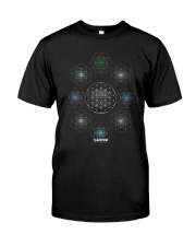 NYCRavers Geometric Harmony Full Color T Shirt Classic T-Shirt front