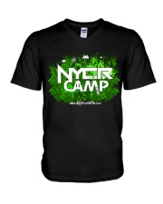 NYCR Camp Forest Design V-Neck T-Shirt thumbnail