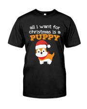 All i want for christmas is a puppy shirt gift Classic T-Shirt thumbnail