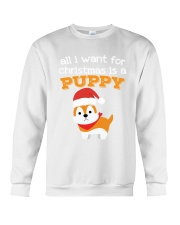 All i want for christmas is a puppy shirt gift Crewneck Sweatshirt thumbnail