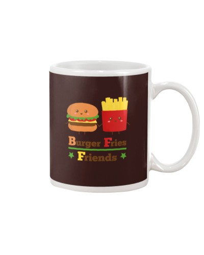 burger and fries friends BFF tees