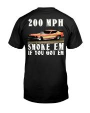Nostalgia Top Fuel Funny Car Drag Racing Premium Fit Mens Tee back