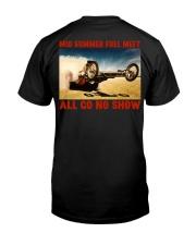 Top Fuel Digger Front Engine Slingshot Dragster Premium Fit Mens Tee back