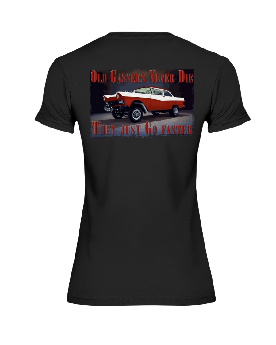 Vintage Hot Rod Gasser Drag Racing T Shirts Premium Fit Ladies Tee