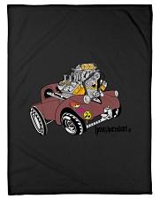 "Willy's Pickup Hot Rod Gasser Small Fleece Blanket - 30"" x 40"" thumbnail"
