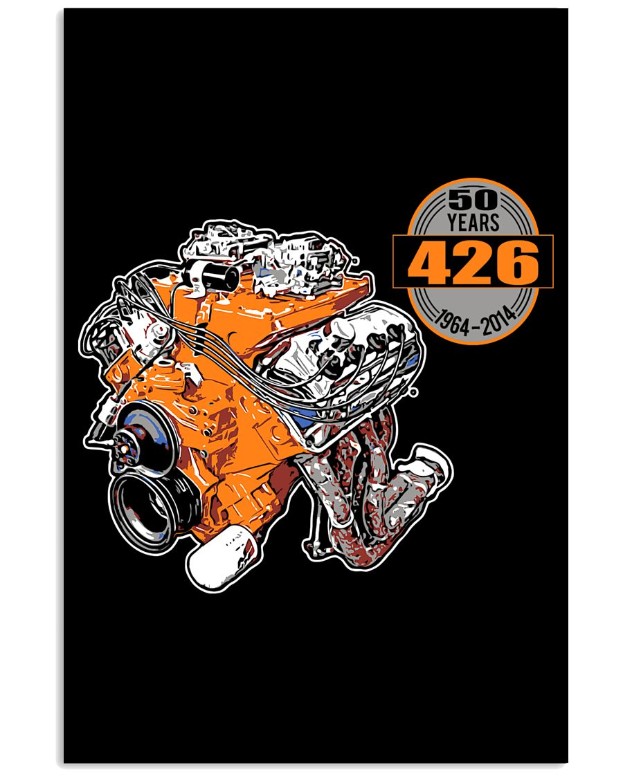 50 years 426 Hemi 1964 - 2014 cross ram 16x24 Poster