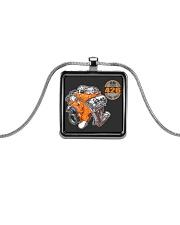 50 years 426 Hemi 1964 - 2014 cross ram Metallic Rectangle Necklace thumbnail