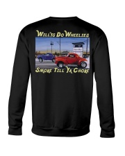 Willys Coupe Gasser Custom Drag Racing T Shirt Crewneck Sweatshirt back