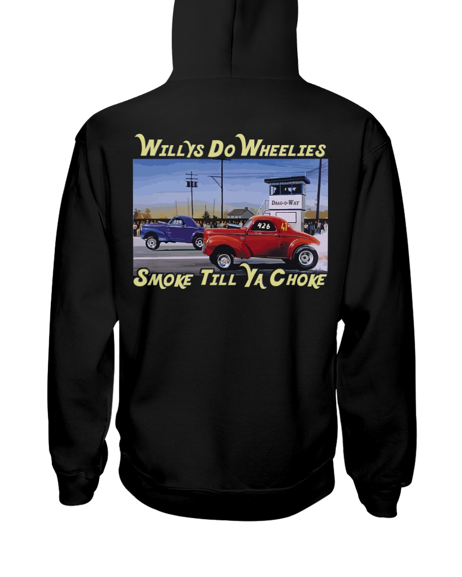 Willys Coupe Gasser Custom Drag Racing T Shirt Hooded Sweatshirt