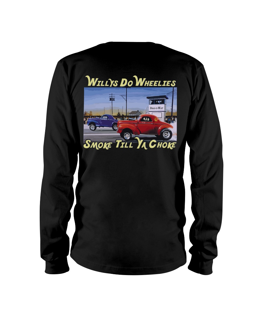 Willys Coupe Gasser Custom Drag Racing T Shirt Long Sleeve Tee