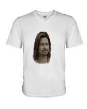 brad visage pitt V-Neck T-Shirt thumbnail