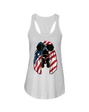 Bloodhound American Flag Pattern T Shirt Women Men Ladies Flowy Tank thumbnail