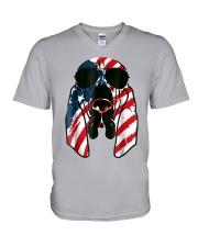 Bloodhound American Flag Pattern T Shirt Women Men V-Neck T-Shirt thumbnail