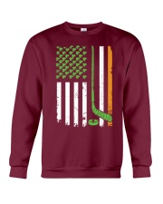 Irish American Hockey Flag Shirt Hockey St Patrick Crewneck Sweatshirt thumbnail